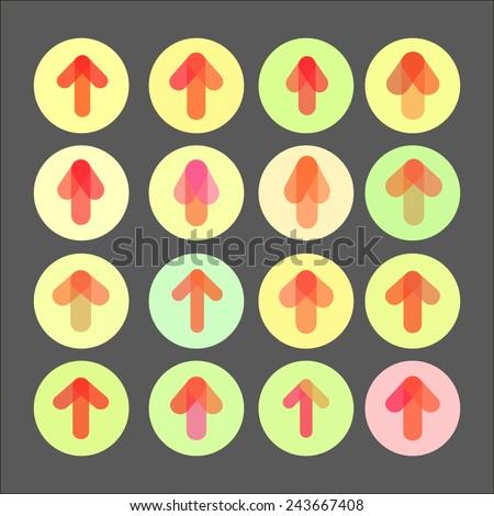 Arrows set. Modern simple pictogram minimal, flat, solid, monochrome, contemporary style. Vector illustration web internet design elements. - stock vector