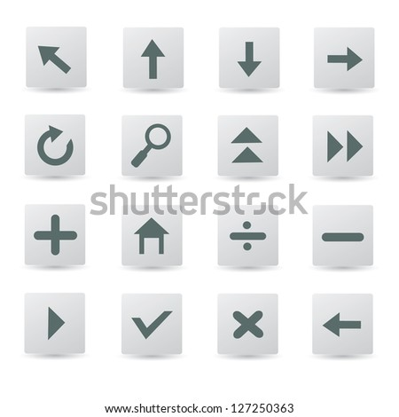 Arrows sign,buttons,vector
