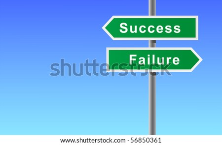 Arrows sign of success failure.