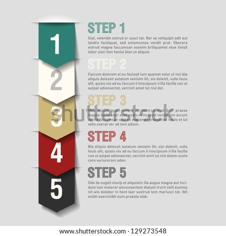 Arrows steps design template. Fully editable vector. - stock vector