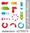 Arrows stickers. - stock vector