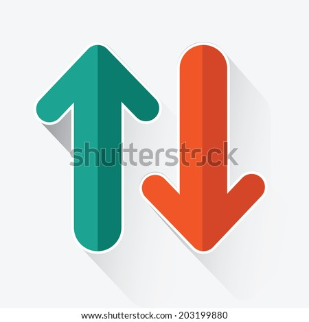 Arrows up and down ,vector - stock vector