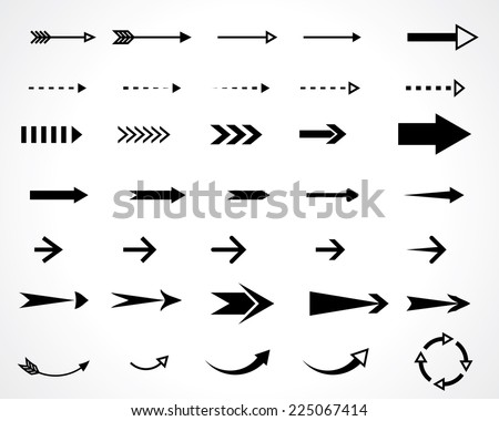 arrows. vector design elements set. eps8 - stock vector
