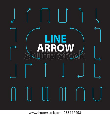 Arrows vector illustrate collection.
