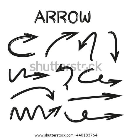 arrows vector set - stock vector