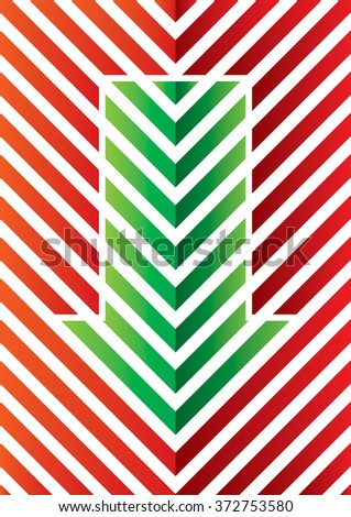 Arrows with blue lines - illustration for your template - stock vector