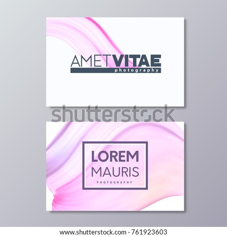 Art abstract pink business card template stock vector 761923603 art abstract pink business card template paint brush colorful smudge emblem design fbccfo Image collections