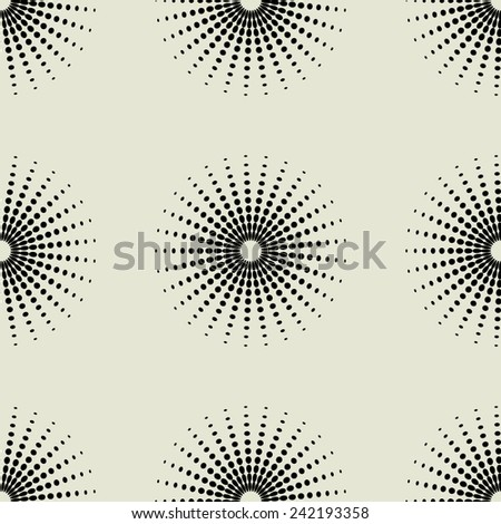 art black graphic geometric seamless pattern, square background with simple circle floral star, sun and snowflake ornament - stock vector