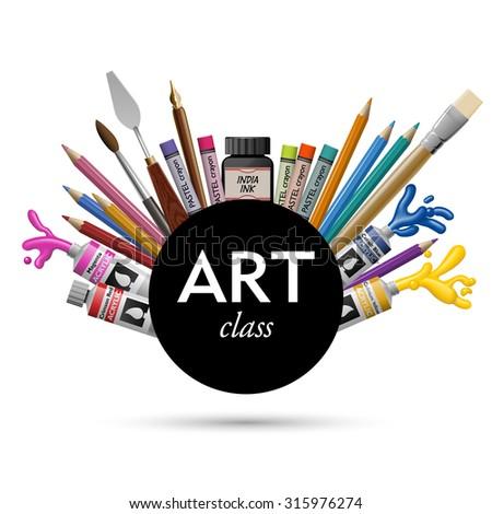 Art class, eps10 vector - stock vector