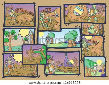 Art comic composition - stock vector