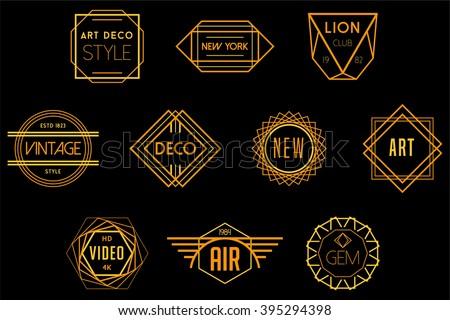 Art Deco Badges Vector Logos - stock vector
