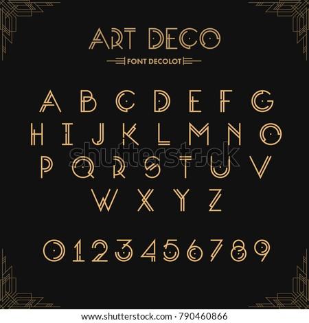 Art Deco Creative Font...