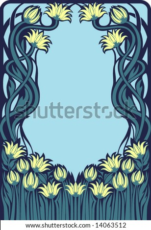 Art Deco frame - stock vector