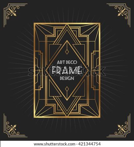 Art Deco Frame Design For Your Design Such As Invitation Print