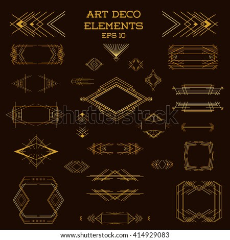 Art Deco Frame Vintage Frames Art Deco Design Elements Vector