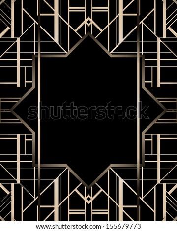 Art deco geometric patterned background 1920s art deco geometric patterned background 1920s style voltagebd Images