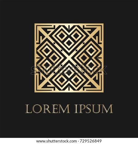 Art Deco Logo Template