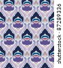 Art deco seamless pattern in editable vector file - stock photo