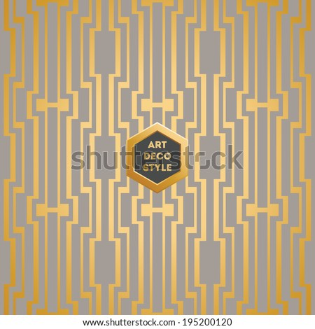 Art Deco seamless vintage wallpaper pattern - stock vector