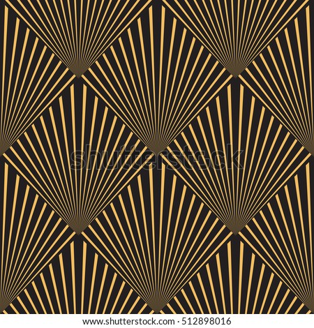 Art Deco Seamless Vintage Wallpaper Pattern Stock Vector 512898016 ...