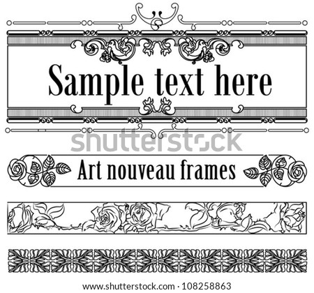 Art-deco set of templates