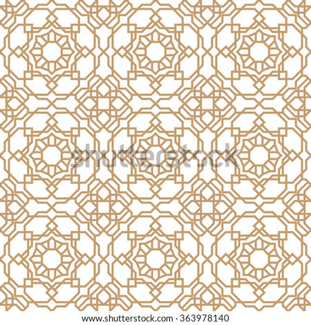 Art deco style seamless pattern, abstract geometric background, vector