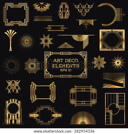 Art deco vintage frames design elements stock vector 2018 art deco vintage frames and design elements in vector stopboris Image collections