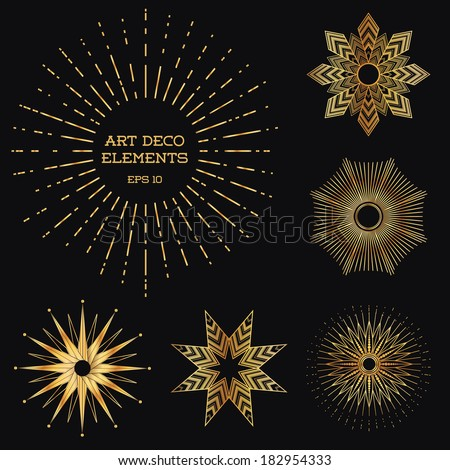 Art Deco Design Elements art deco vintage frames design elements stock vector 182954333