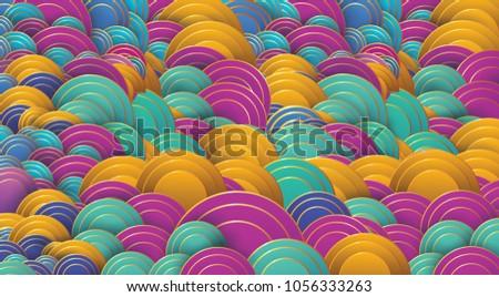 Art Deco Wave Scales Pattern Fish Stock Vector 1056333263 - Shutterstock