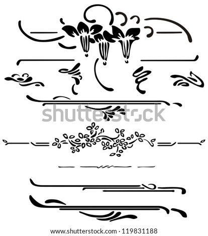 Art decoration - stock vector