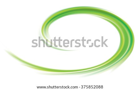 Art fancy modern elegant wonderful wavy eddy futuristic pea color fond of glossy rippled curvy spraying surface. Closeup view with space for text in glowing white center in middle of funnel