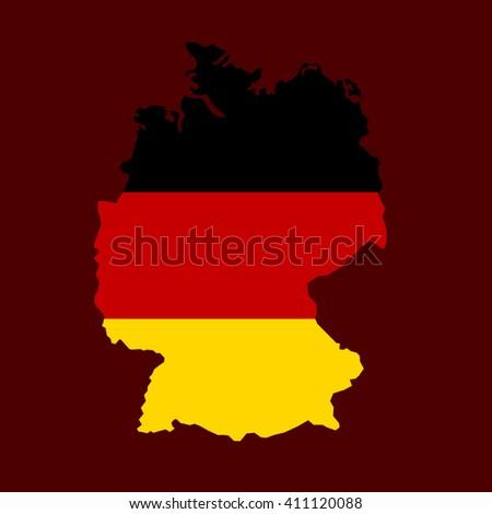 Art Germany map flag. Flat vector - stock vector
