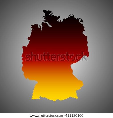 Art Germany map flag. Gradient vector - stock vector