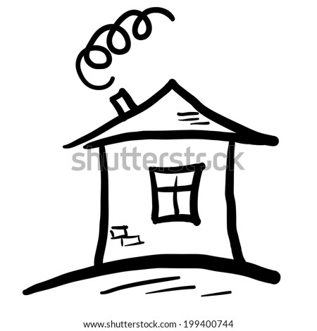 Art house for your design.  Icon of house. Logo house - stock vector