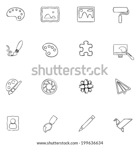 Set 9 Environment Outline Icons Such Stock Vector