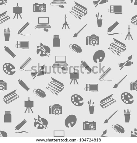 art icons seamless pattern - stock vector
