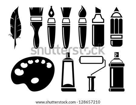 art Icons set. A vector illustration