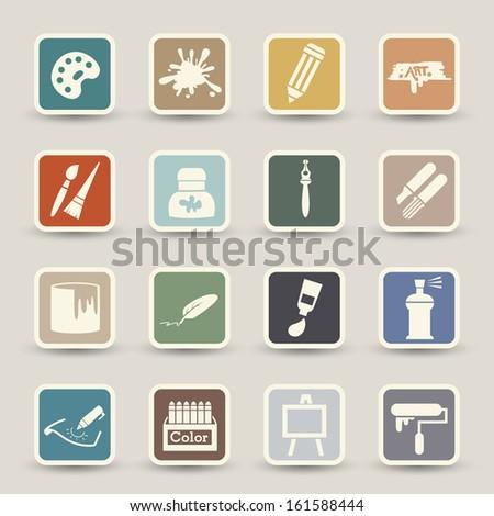Art icons vector  - stock vector