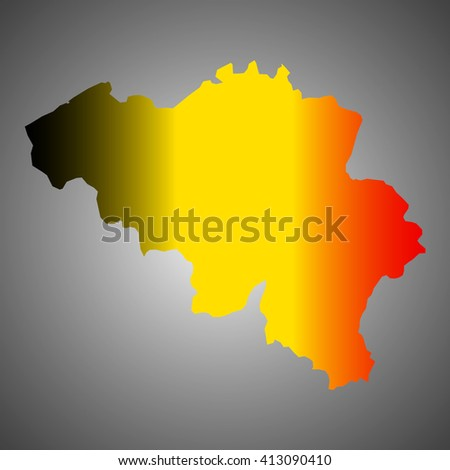 Art map flag of Belgium. Vector gradient - stock vector