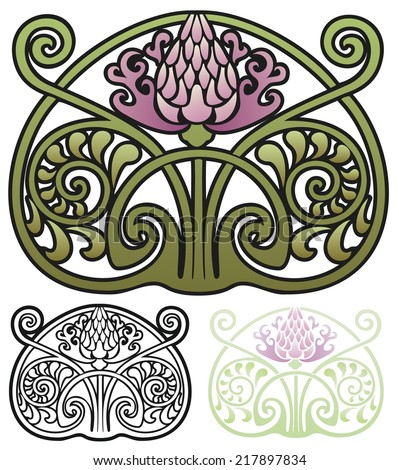 Darla hallmark 39 s portfolio on shutterstock for Art nouveau shapes