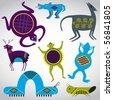 Art of symbols & clip art - stock vector