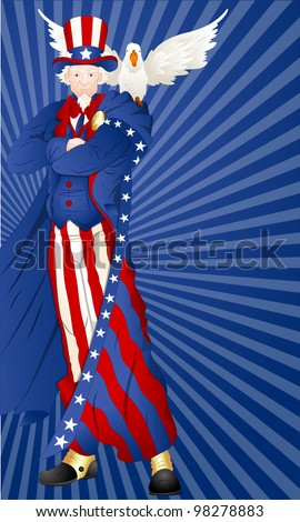 Art of Uncle Sam with Bird