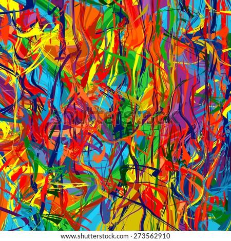 Art rainbow color splash brush strokes paint abstract vector background 6 - stock vector