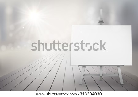 Art show in the street. Vector illustration. - stock vector