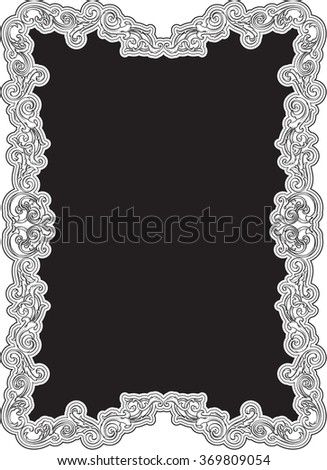 Art swirl nice art page isolated on white - stock vector