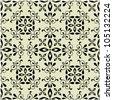art vector seamless vintage pattern background - stock vector