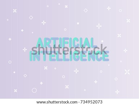 Artificial Intelligence Concept Vector Templates A 4 Stock Vector ...