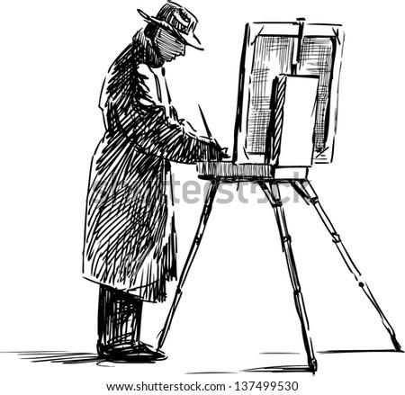 artist - stock vector
