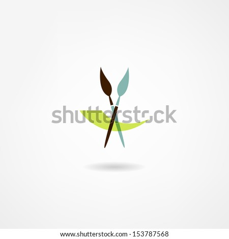 artist icon - stock vector