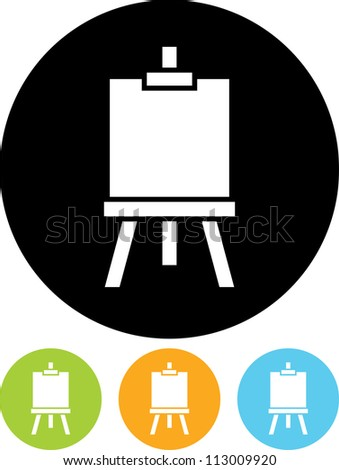 Artist's easel - Vector icon isolated - stock vector